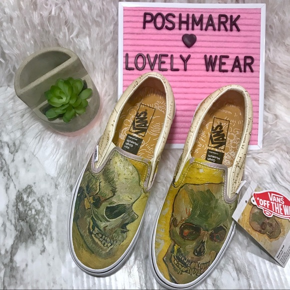 6a5e5b96b908 VANS Classic Slip On Vincent Van Gogh Skull Shoes